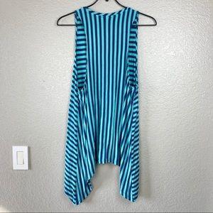 LOGO by Lori Goldstein Tops - LOGO Lori Goldstein Sleeveless Striped Tunic Sz L